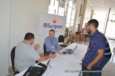 IBSurgeon stand at Firebird Developers Day 2015 in Piracicaba, Brazil